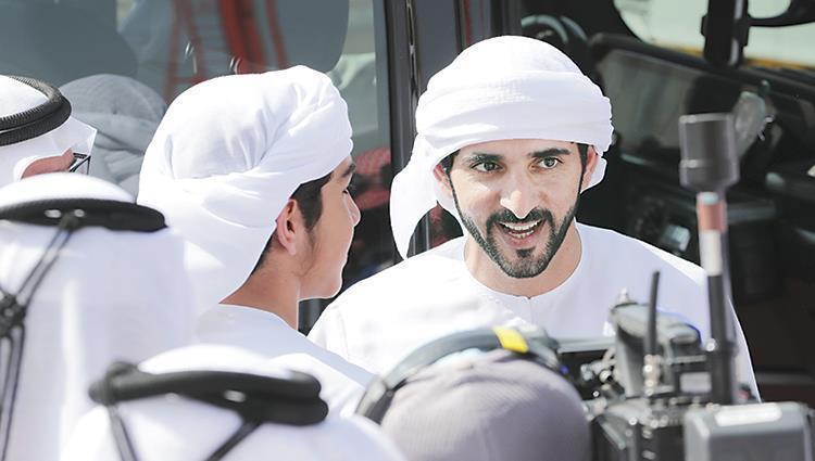 حمدان بن محمد يشهد سباقات اليوم السادس في المرموم